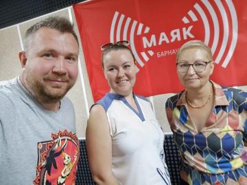 Е.А. Брюханова в эфире радио «Маяк»